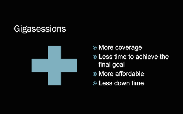 Gigasession Advantages