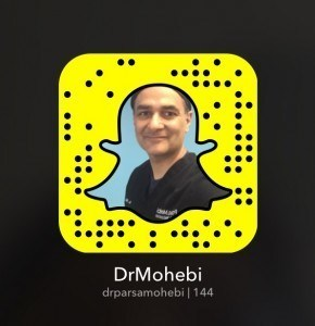 Dr. Mohebi is now on Snapchat