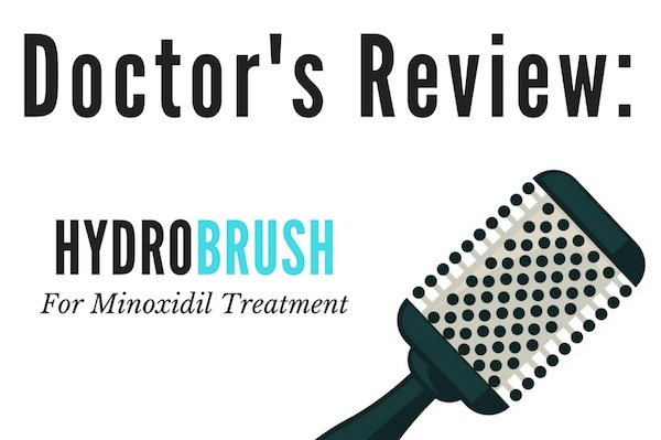 Hydrobrush for minoxidil application