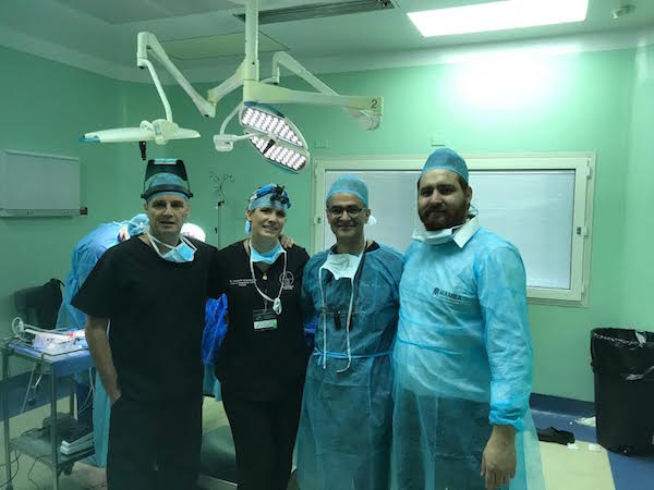 Dr. Mohebi at hair transplant center in Guatemala