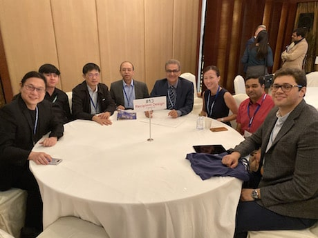Dr. Mohebi and other doctors at world congress meeting