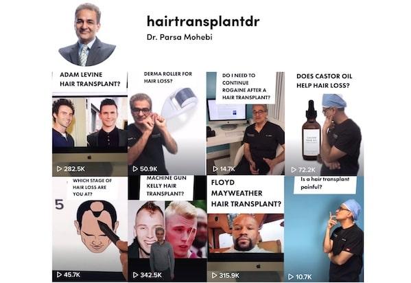 Learn about hair transplants on TikTok