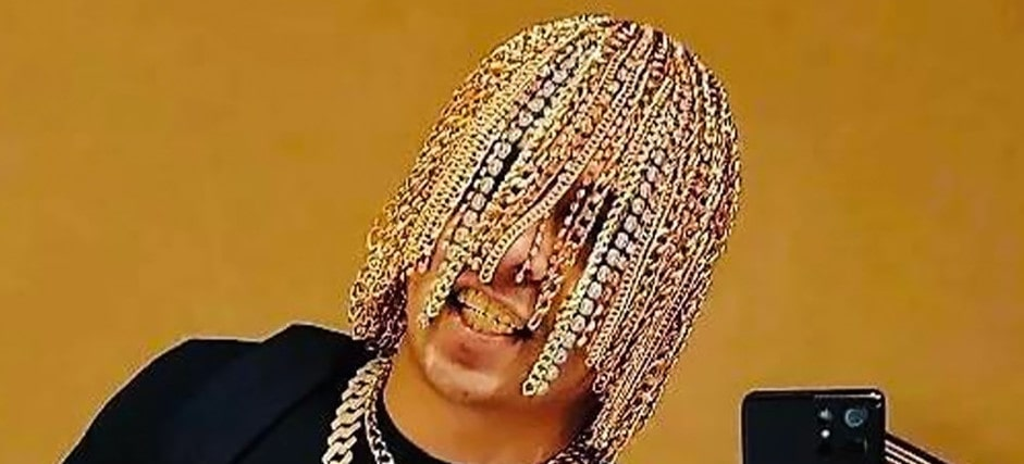 Gold Placed in Rappers Hair